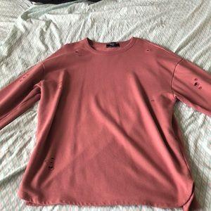 Forever 21 Sweaters - Distressed sweatshirt